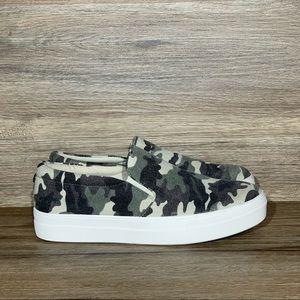 Steve Madden Gills-C Green Camo Slip-on Sneaker
